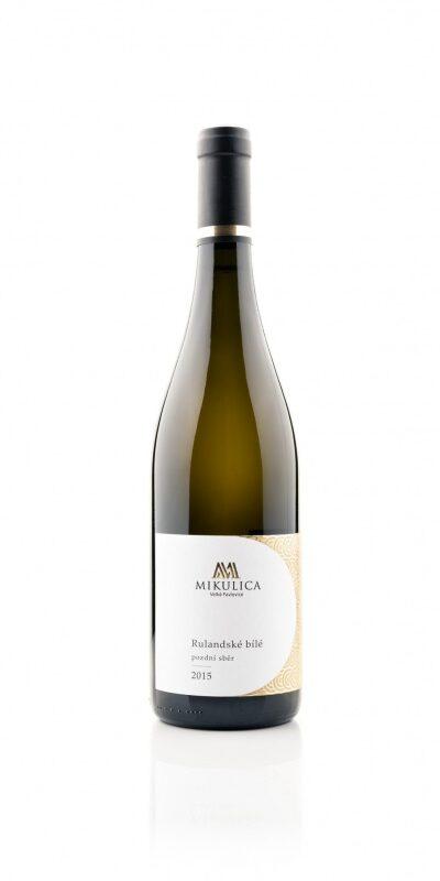 Rulandské bílé Gold 2015, pozdní sběr, víno z Velkých Pavlovic.