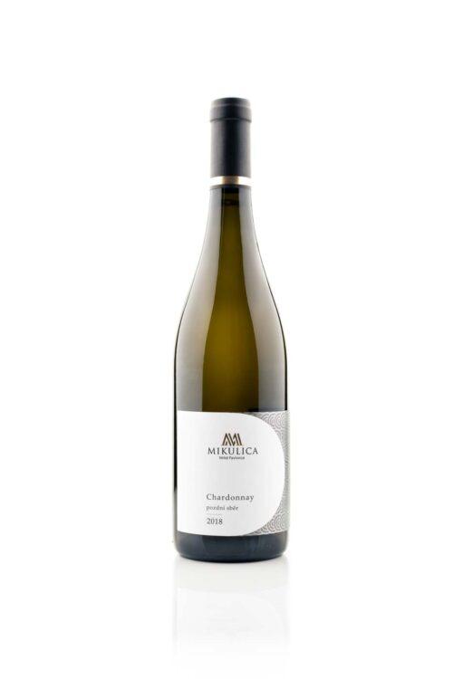 Chardonnay 2018, pozdní sběr, víno z Velkých Pavlovic.