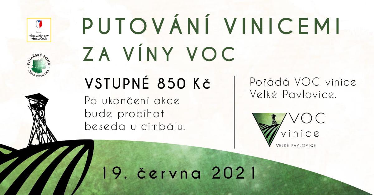 Putování vinicemi za víny VOC ve Velkých Pavlovicích 2021.